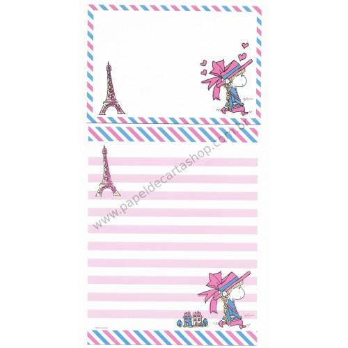Conjunto de Papel de Carta com envelope ADO MIZUMORI 0026