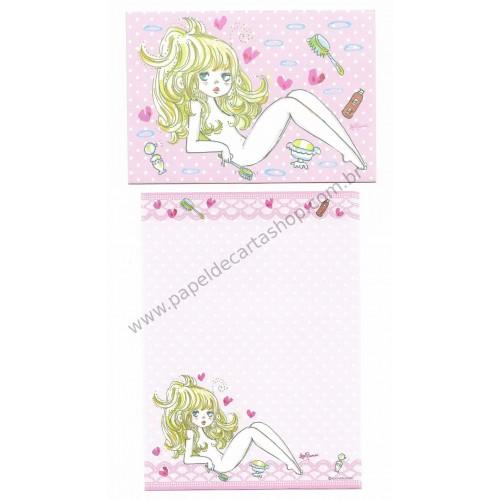 Conjunto de Mini-Papel de Carta com envelope ADO MIZUMORI 0027