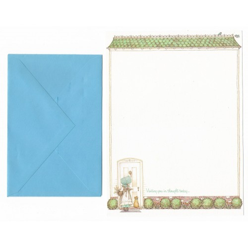 Conjunto de Papel de Carta ANTIGO Holly Hobbie - M41