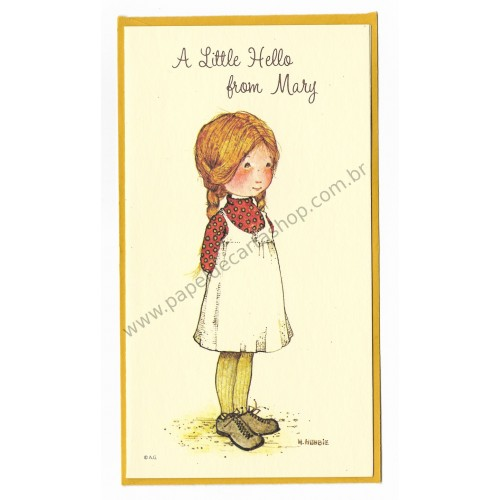 Notecard Antigo Holly Hobbie A Little Hello from Mary - American Greetings