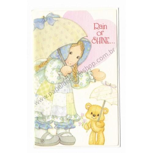 Notecard Holly Hobbie Rain or Shine - American Greetings
