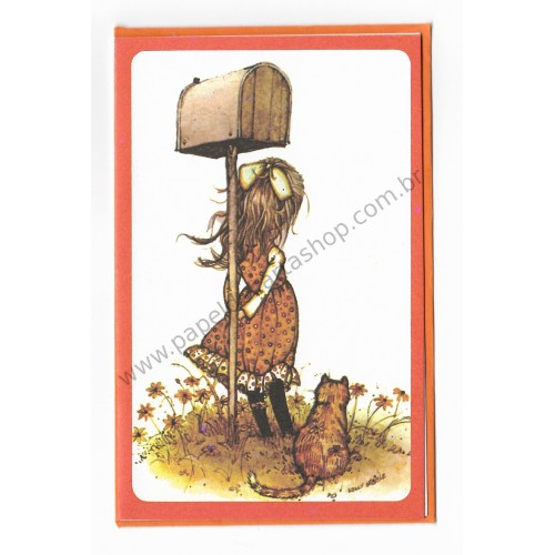 Notecard Antigo Holly Hobbie LA 9 - Carlton Cards