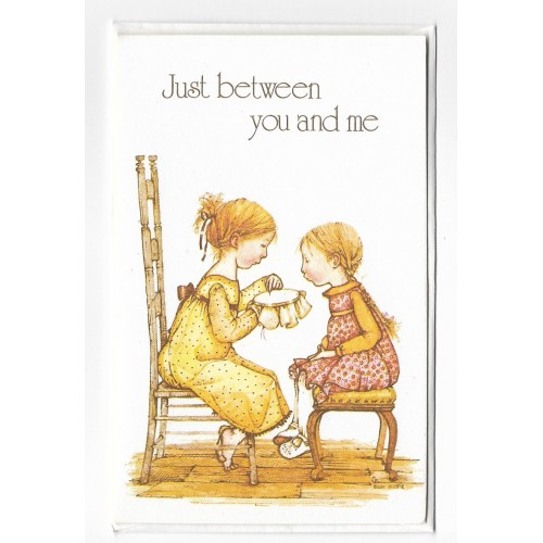 Notecard Antigo Holly Hobbie Just Between You and Me - American Greetings