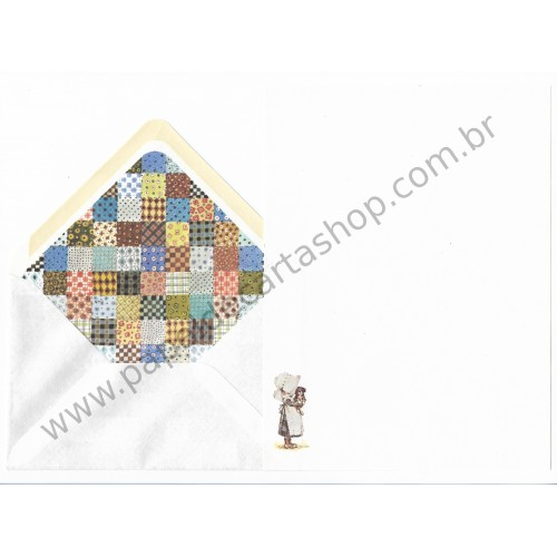 Conjunto de Papel de Carta ANTIGO Holly Hobbie M43