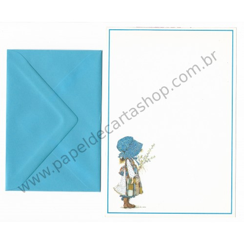 Conjunto de Papel de Carta ANTIGO Holly Hobbie M45