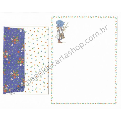 Conjunto de Papel de Carta ANTIGO Holly Hobbie M23
