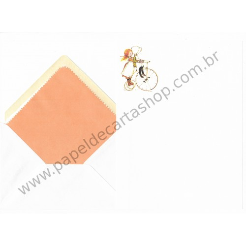 Conjunto de Papel de Carta ANTIGO Holly Hobbie M48
