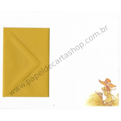 Conjunto de Papel de Carta ANTIGO Holly Hobbie M51