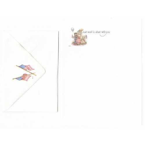 Conjunto de Papel de Carta ANTIGO Holly Hobbie - M54