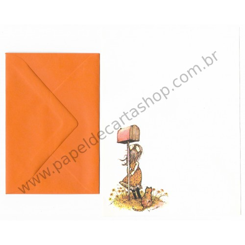 Conjunto de Papel de Carta ANTIGO Holly Hobbie M60