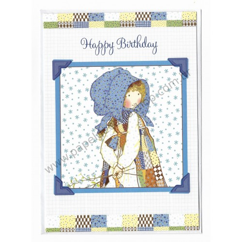 Cartão Importado HOLLY HOBBIE Happy Birthday G7 - Robert Frederick Limited