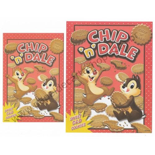 Conjunto de Papel de Carta Disney Chip'n'Dale Sweet Cookies