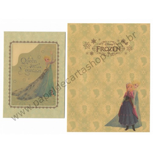 Conjunto de Papel de Carta Disney FROZEN Kraft AM