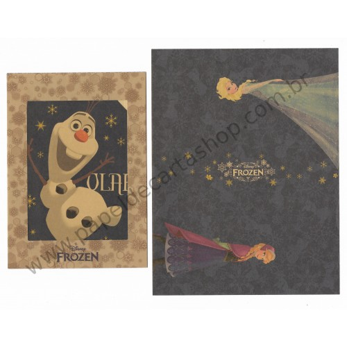 Conjunto de Papel de Carta Disney FROZEN Kraft AZ
