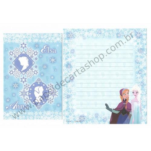 Conjunto de Papel de Carta Disney Frozen - Elsa & Anna (LB)