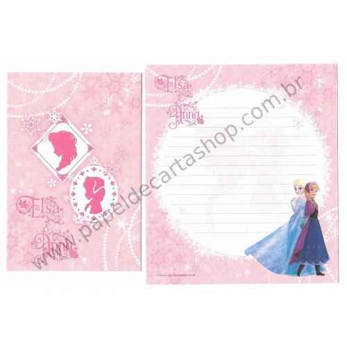 Conjunto de Papel de Carta Disney Frozen - Elsa & Anna (RS)