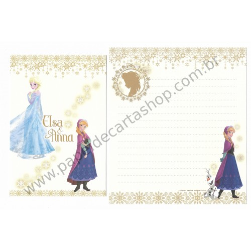 Conjunto de Papel de Carta Disney Frozen - Elsa & Anna (ND)