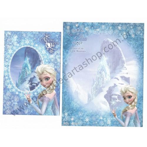 Conjunto de Papel de Carta Disney Frozen - Elsa Queen of the North Mountain