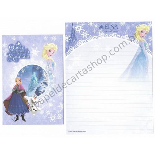 Conjunto de Papel de Carta Disney Frozen - Elsa Queen of the North Mountain (LL)