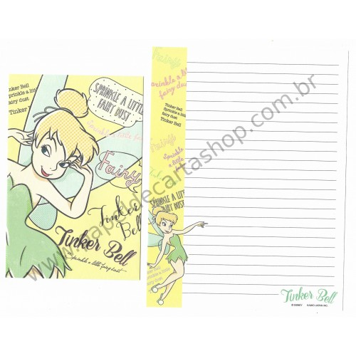 Conjunto de Papel de Carta Importado Disney Tinker Bell (VD2)