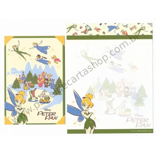 Kit 2 Conjuntos de Papel de Carta Disney Peter Pan