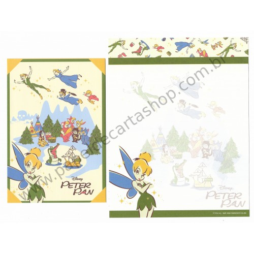 Kit 2 Conjuntos de Papel de Carta Disney Peter Pan