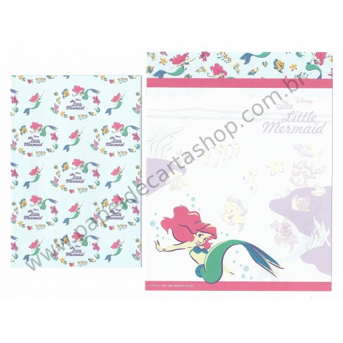 Conjunto de Papel de Carta Disney The Little Mermaid (Dupla)