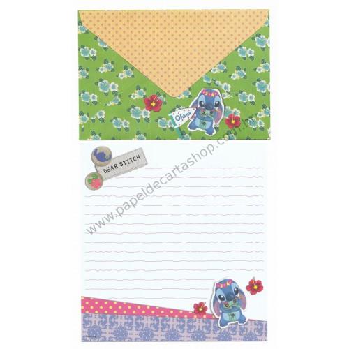 Conjunto de Papel de Carta Disney Dear Stitch Ohana