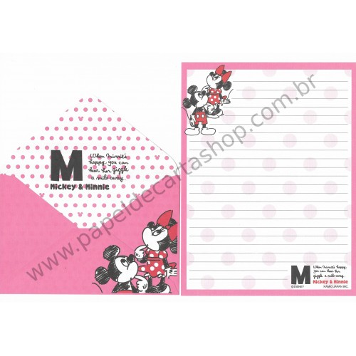 Conjunto de Papel de Carta Disney Mickey & Minnie (RS) - Kamio