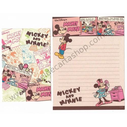 Conjunto de Papel de Carta Disney Mickey & Minnie Ring Color