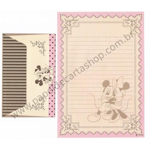Conjunto de Papel de Carta Vintage Mickey & Minnie (CRS)
