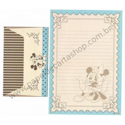 Conjunto de Papel de Carta Vintage Mickey & Minnie (CAZ)