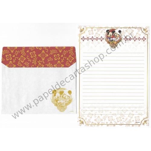 Conjunto de Papel de Carta Mickey & Minnie (JP)