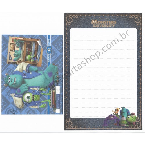 Conjunto de Papel de Carta Disney/Pixar Monsters University - Big Monster