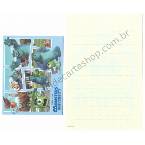 Conjunto de Papel de Carta Disney/Pixar Monsters University - Oozma Kappa OK