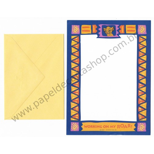 Conjunto de Papel de Carta Disney Lion King Roar - Hallmark
