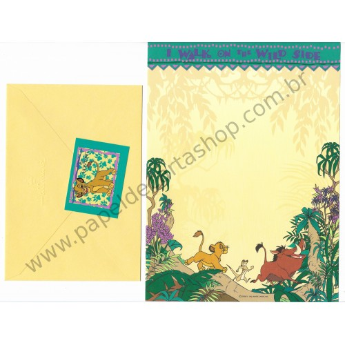 Conjunto de Papel de Carta Disney Lion King Wild Side - Hallmark