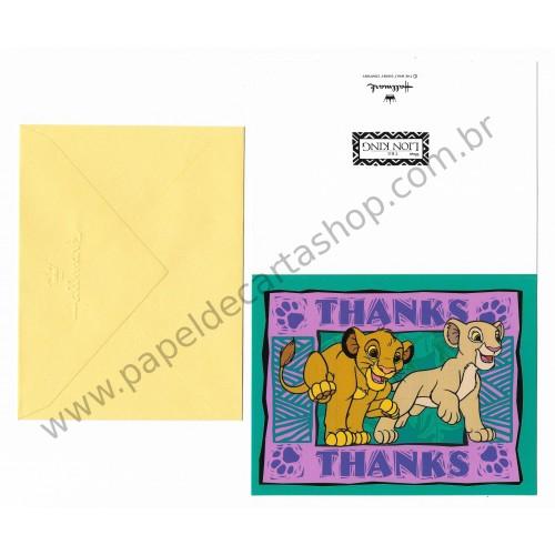 Cartão Disney Lion King Thanks - Hallmark