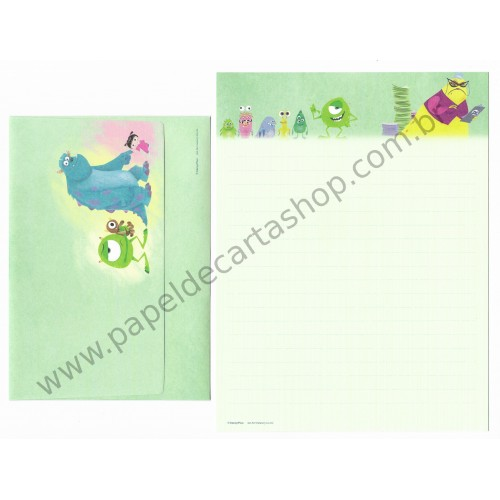 Conjunto de Papel de Carta Disney/Pixar Monsters University Sun-Star