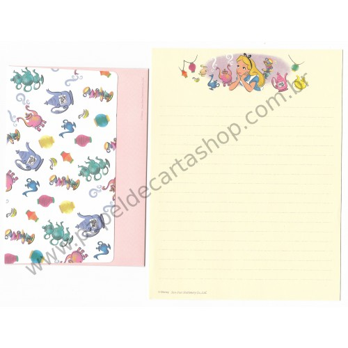 Conjunto de Papel de Carta Disney Alice in Wonderland Sun-Star