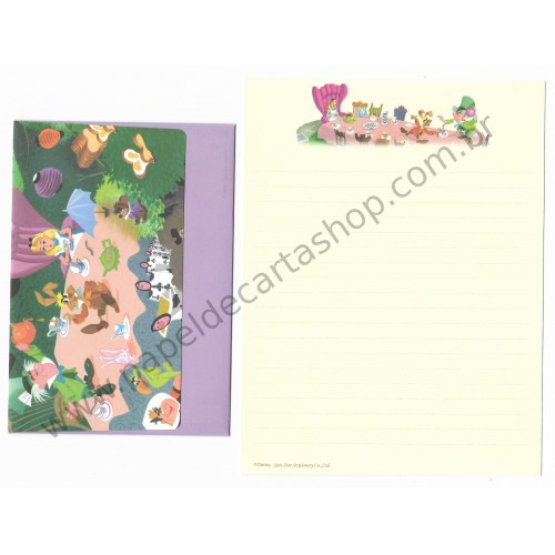 Conjunto de Papel de Carta Disney Alice in Wonderland2 Sun-Star
