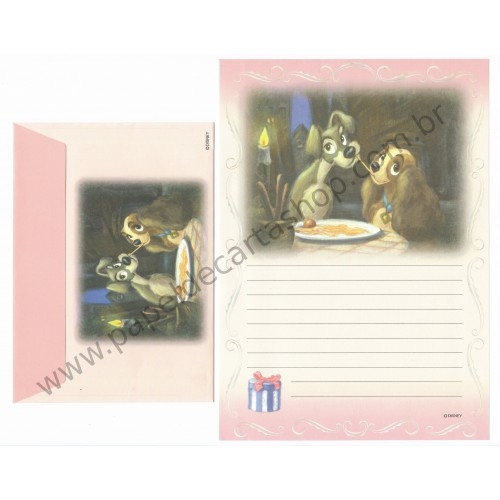 Conjunto de Papel de Carta Disney Lady and the Trump