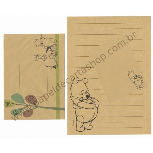 Conjunto de Papel de Carta Disney Pooh (Kraft)