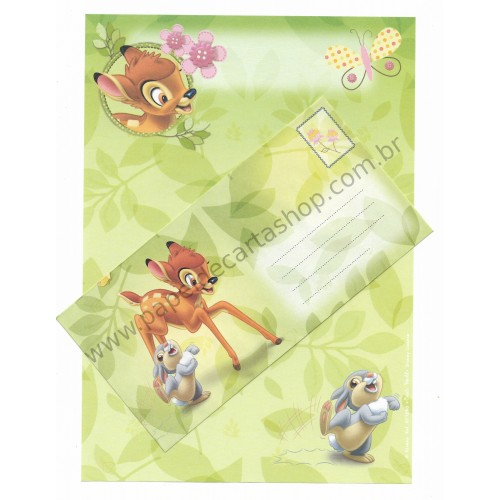 Conjunto de Papel de Carta Antigo Vintage Disney Bambi (VD) - Creative Words