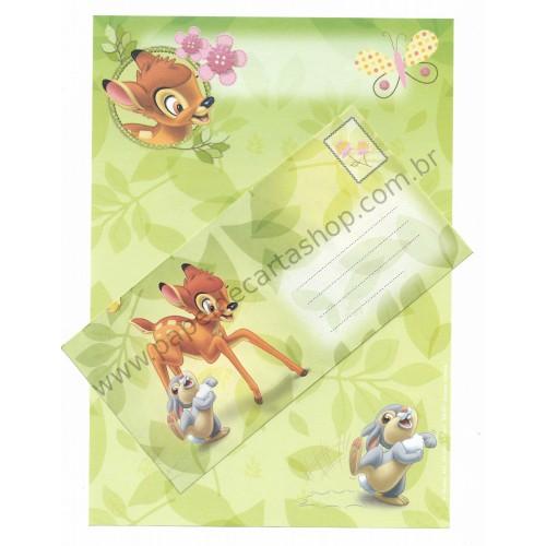 Conjunto de Papel de Carta Antigo Vintage Disney Bambi (VD) - Creative Words