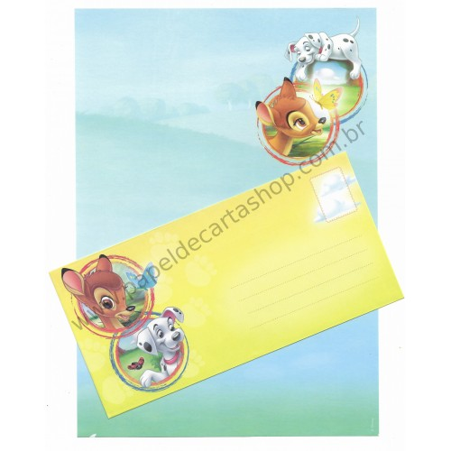 Conjunto de Papel de Carta Antigo Vintage Disney Bambi (AM) - Creative Words