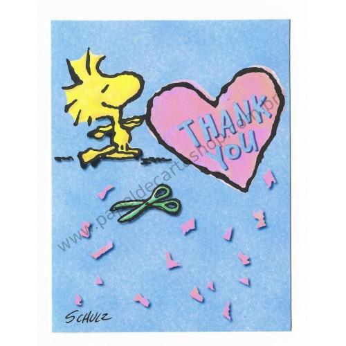 Cartão ANTIGO Importado Snoopy Thank You (CAZ) - Hallmark Cards