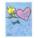 Notecard Cartão ANTIGO Importado Snoopy Thank You (CAZ) - Hallmark Cards