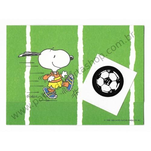 Postalete ANTIGO IMPORTADO COM SELINHO PARA COLAR Snoopy Football Hmk