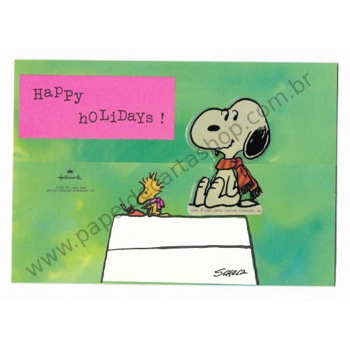 Postalete ANTIGO IMPORTADO COM SELINHO PARA COLAR Snoopy House Hmk